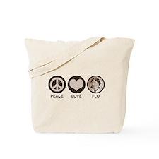 Peace Love Flo Tote Bag