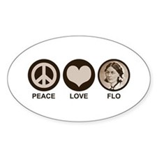 Peace Love Flo Decal