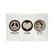 Peace Love Flo Rectangle Magnet