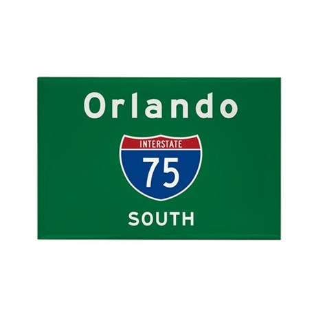 Orlando 75 Rectangle Magnet