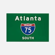 Atlanta 75 Rectangle Magnet