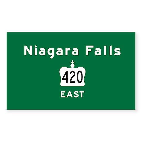 Niagara Falls 420 Sticker (Rectangle)