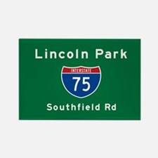 Lincoln Park 75 Rectangle Magnet