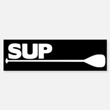 SUP Paddle black Bumper Bumper Sticker