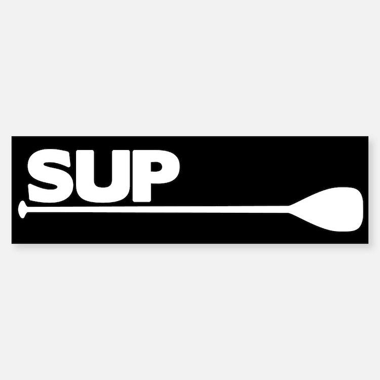 SUP Paddle black Bumper Bumper Sticker
