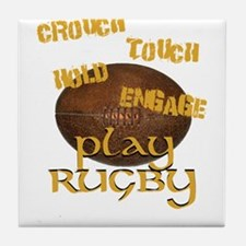 Cute Touch rugby Tile Coaster