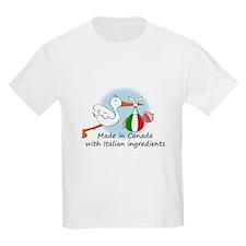 Stork Baby Italy Canada T-Shirt