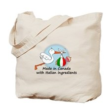 Stork Baby Italy Canada Tote Bag
