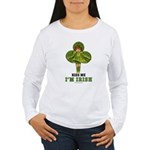 KISS ME I'M IRISH Women's Long Sleeve T-Shirt