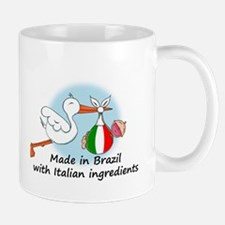 Stork Baby Italy Brazil Mug