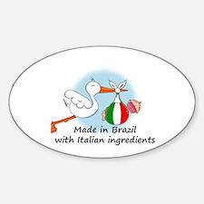 Stork Baby Italy Brazil Decal