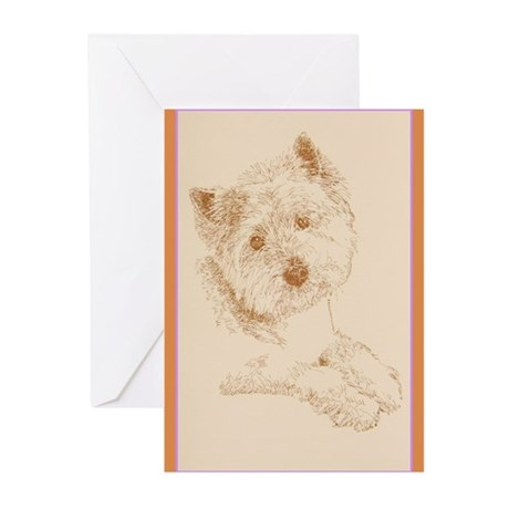 West Highland White Terrier Westie Greeting Cards