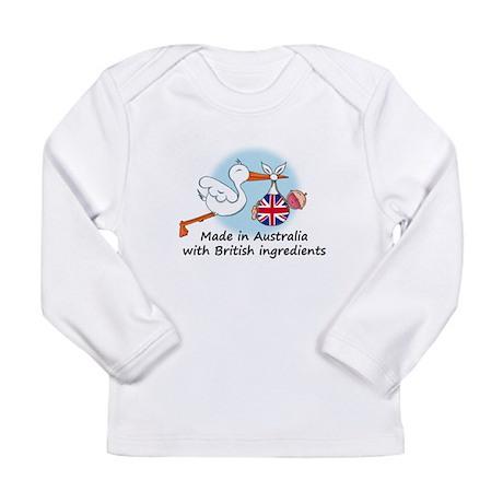 Stork Baby UK Australia Long Sleeve Infant T-Shirt