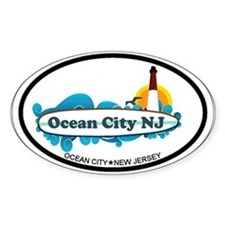Ocean City NJ - Surf Design. Decal