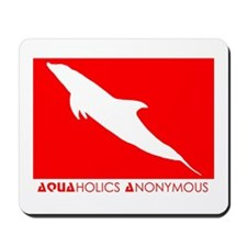 Aquaholics Dolphin SCUBA Mousepad