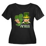I'M IRISH Women's Plus Size Scoop Neck Dark T-Shir