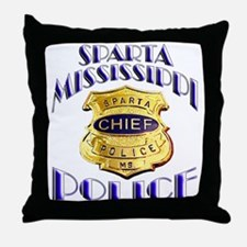 Sparta Police Chief Throw Pillow