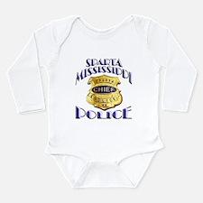 Sparta Police Chief Long Sleeve Infant Bodysuit