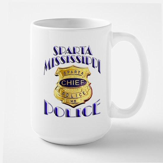 Sparta Police Chief Large Mug