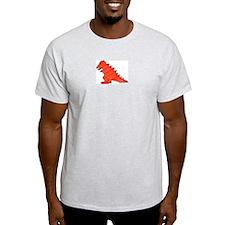 When Tiny Tyranosaurus Ruled! Ash Grey T-Shirt