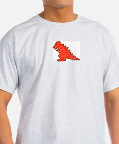 When Tiny Tyranosaurus Ruled! Ash Grey T-Shirt