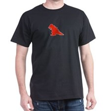 When Tiny Tyranosaurus Ruled! Black T-Shirt
