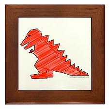 When Tyranosaurus Ruled! Framed Tile