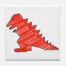When Tyranosaurus Ruled! Tile Coaster