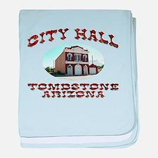 Tombstone City Hall baby blanket