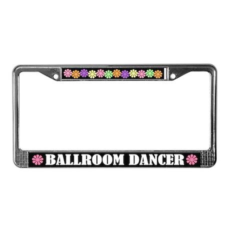 Cute Ballroom Dancer License Plate Frame