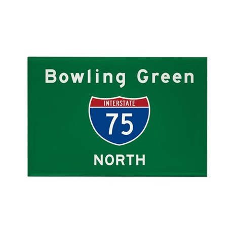 Bowling Green 75 Rectangle Magnet
