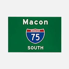 Macon 75 Rectangle Magnet