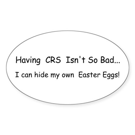 CRS Easter Eggs Sticker (Oval)