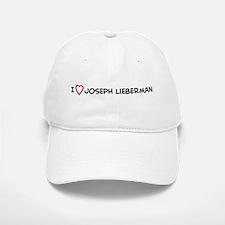 I Love Joseph Lieberman Baseball Baseball Cap