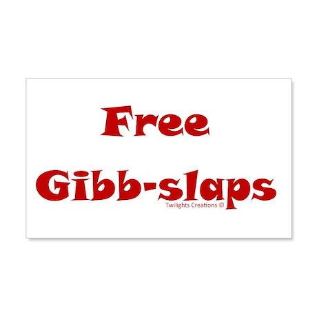 Free Gibb-slaps 22x14 Wall Peel