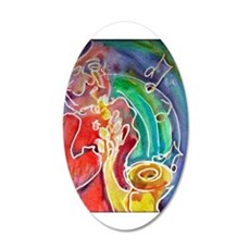Music! Saxophone art! 22x14 Oval Wall Peel