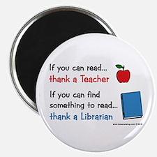 """Teacher...Librarian 2.25"""" Magnet (10 pack)"""