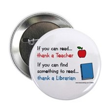 "Teacher...Librarian 2.25"" Button"