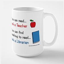 Teacher...Librarian Large Mug