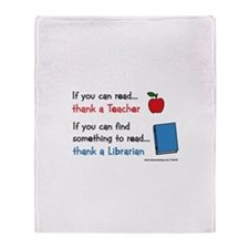 Teacher...Librarian Throw Blanket
