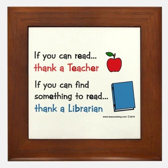 Teacher...Librarian Framed Tile