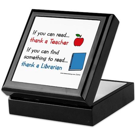 Teacher...Librarian Keepsake Box