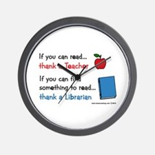 Teacher...Librarian Wall Clock