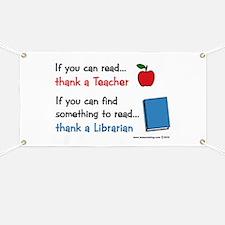 Teacher...Librarian Banner