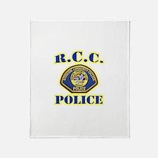 Riverside College Police Throw Blanket