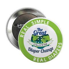 "Great Cloth Diaper Change 2.25"" Button (10 pa"