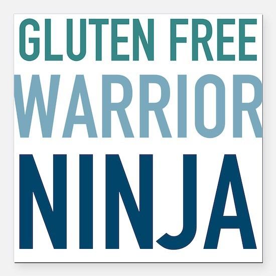 "Gluten Free Warrior Ninj Square Car Magnet 3"" x 3"""