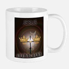 Cool Peace love and jesus Mug