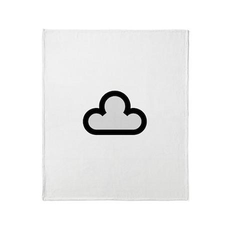 Dark Cloud Symbol Throw Blanket