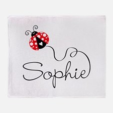 Ladybug Sophie Throw Blanket